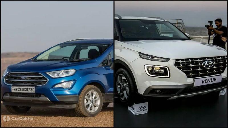 Hyundai Venue vs Ford EcoSport: In Pics
