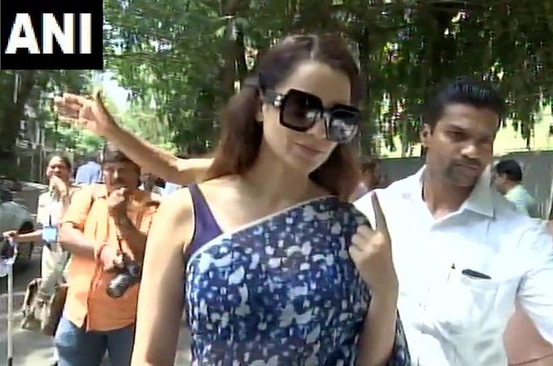 Kangana Ranaut votes, attacks Congress and Sonia Gandhi, says 'before this, we were slaves of the Italian government'