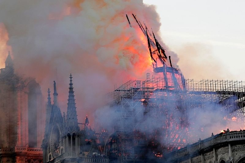 Notre Dame cathedral fire under control, main structure saved