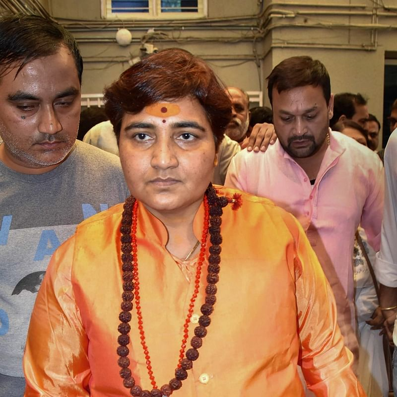 Bhopal: Pragya Thakur stages dharna on plane