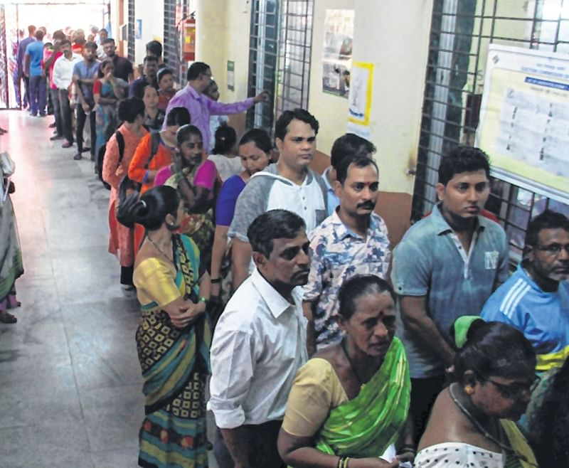 Mumbai: People complain of slow voting process, stand in long queues