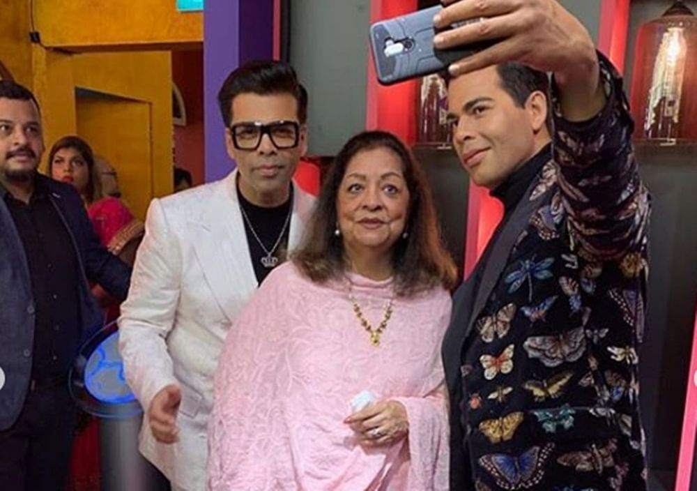 In Pics: Karan Johar unveils his wax statue at Madame Tussauds along with mom Hiroo Johar