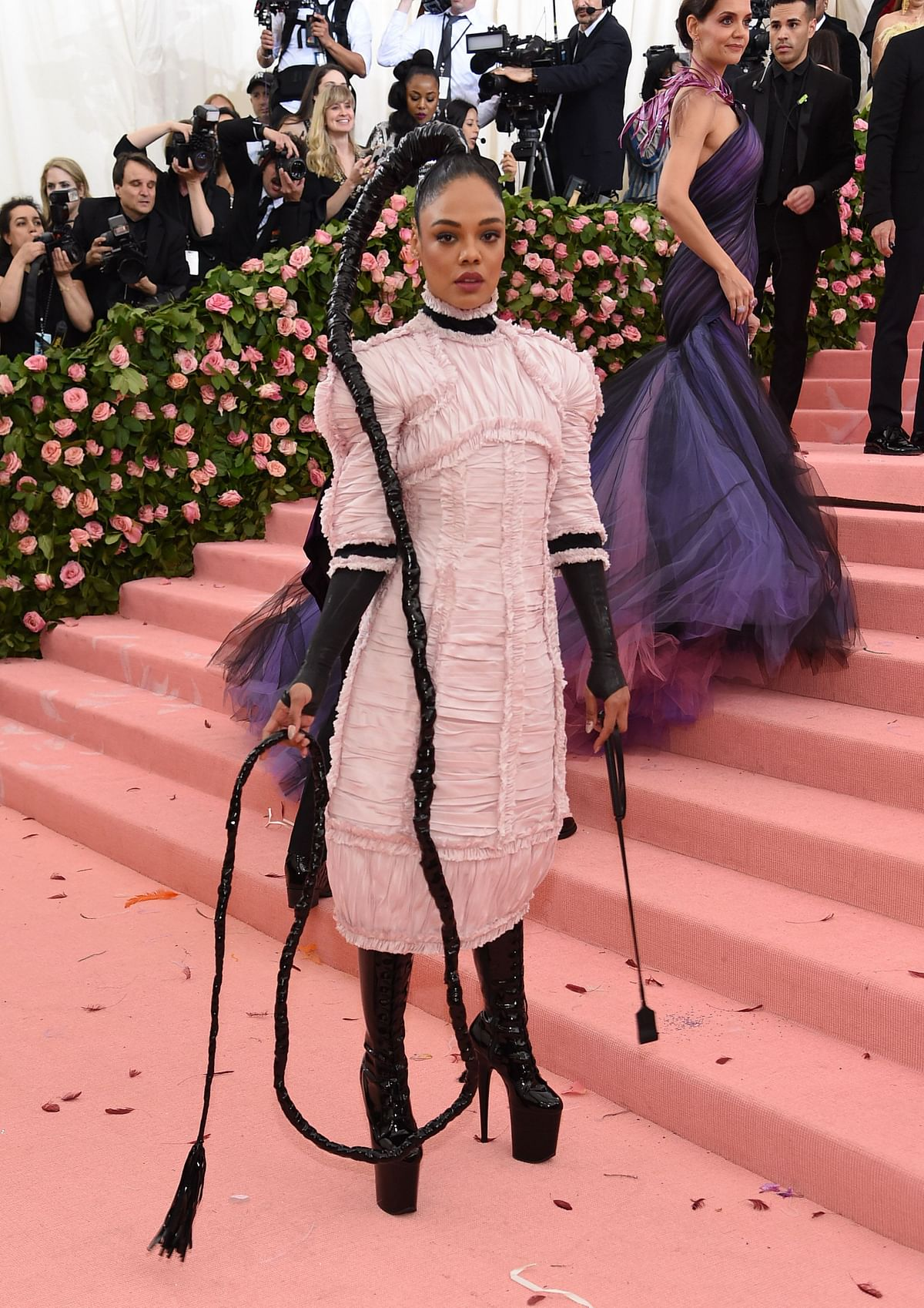 Back off Rapunzel, Tessa Thomson has a longer braid at Met Gala 2019