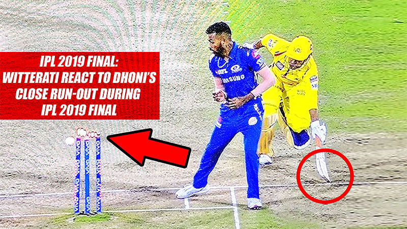 IPL 2019 Final: Twitterati React To Dhoni's Close Run-Out During IPL 2019 Final