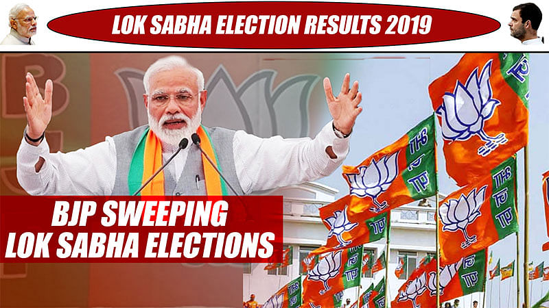 Lok Sabha Election Results 2019: BJP Sweeping Lok Sabha Elections