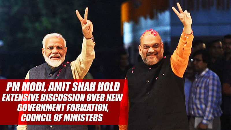 PM Modi, Amit Shah Hold Extensive Discussion Over New Government Formation, Council Of Ministers