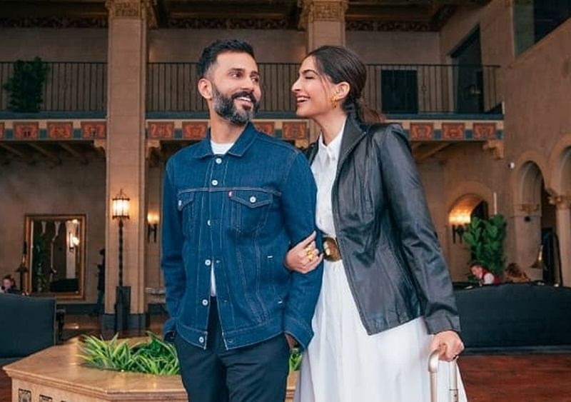 Anand Ahuja wishes wife Sonam Kapoor on first wedding anniversary with 'shoefies'