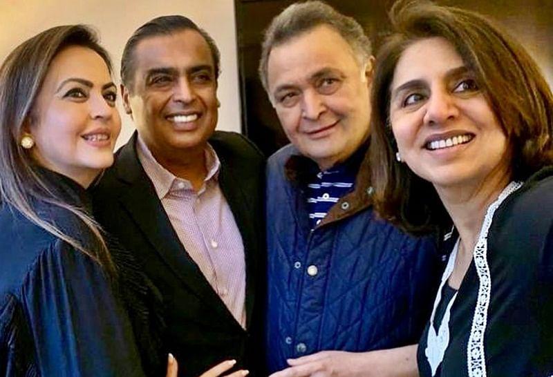 Mukesh and Nita Ambani visit ailing Rishi Kapoor in New York