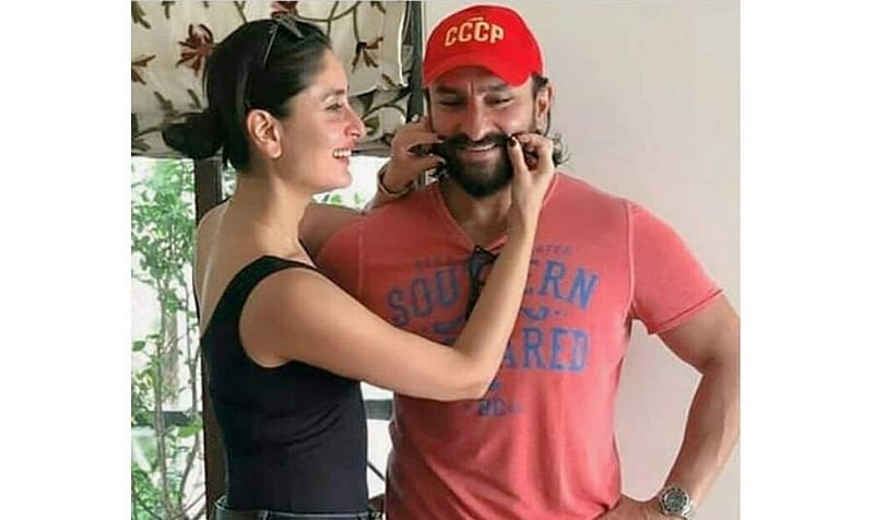 Kareena Kapoor playing with Saif Ali Khan's moustache in these recent pics is making the internet go AWE