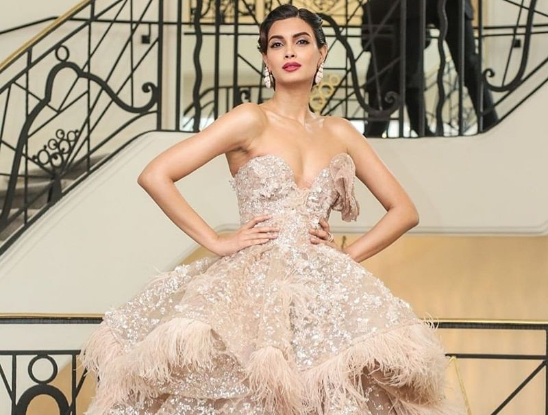 Diana Penty dazzles in an off-shoulder gown at her Cannes red carpet debut