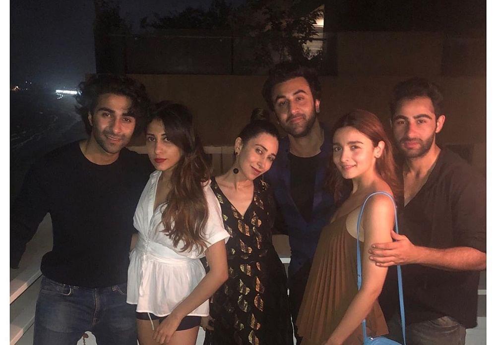 Ranbir Kapoor takes GF Alia to party with siblings Karisma, Aadar and Armaan Jain, but where is Kareena?