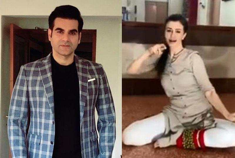 Watch Arbaaz Khan cheer his GF Giorgia as she performs Kathak on 'Bajirao Mastani' song