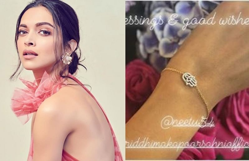 Deepika Padukone shows off a bracelet received from Ranbir Kapoor's mother Neetu and sister Riddhima