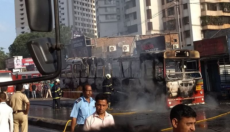 Mumbai: BEST bus travelling from Goregaon to Malad catches fire, none hurt