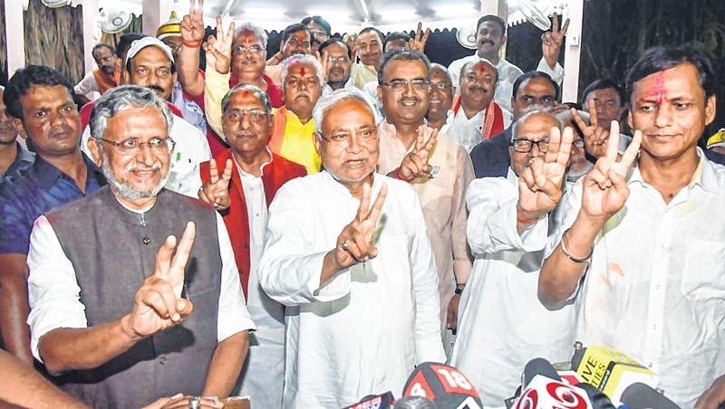 NDA sweeps Bihar, Grand Alliance reduced to 2 seats