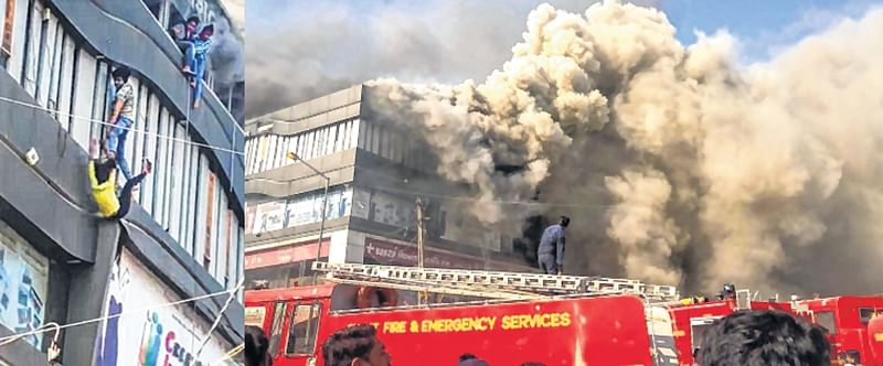 Surat: 21 killed as fire engulfs commercial complex