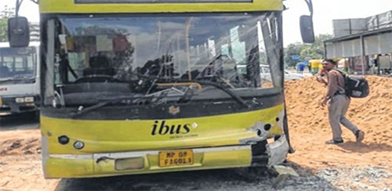 Indore: BRTS route opens; i-Bus still runs in mixed lane