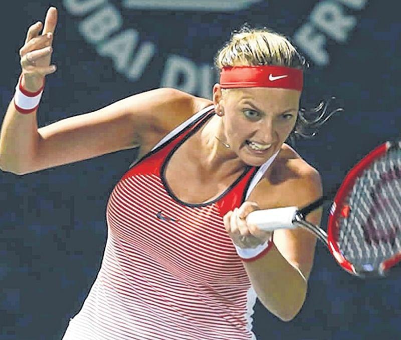 Petra Kvitova brushes past Kristina Mladenovic