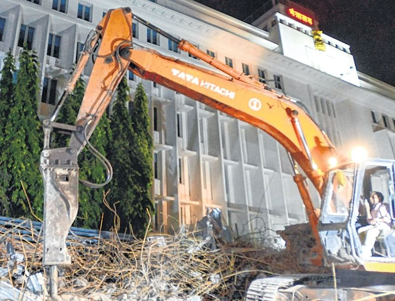 For security reasons, Mantralaya's Asiatic-style staircase razed