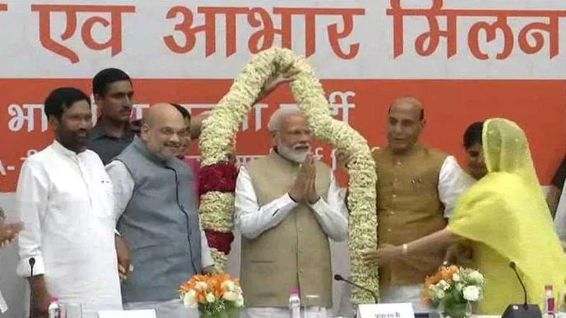 NDA leaders meet ahead of Lok Sabha results