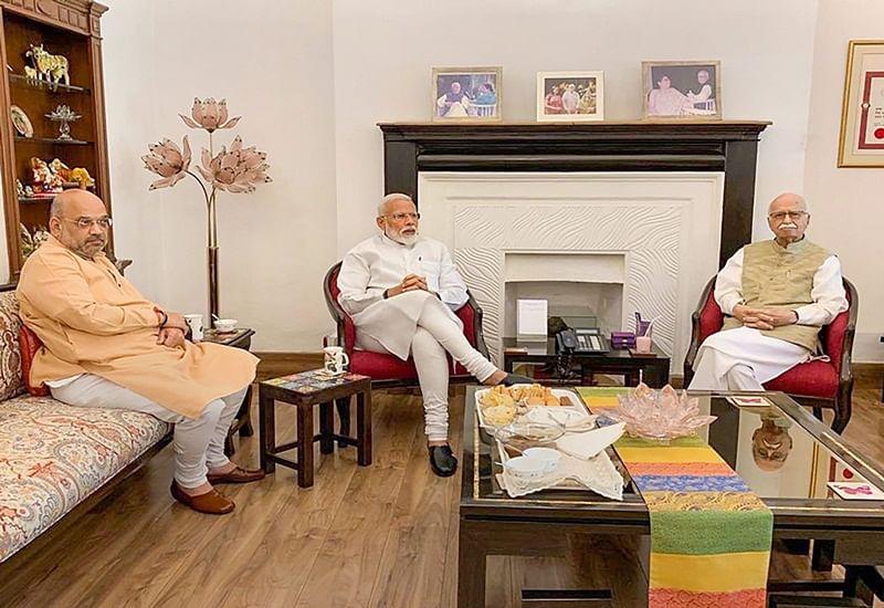 PM Modi, Amit Shah seek blessings of veteran BJP leaders LK Advani, MM Joshi after massive victory