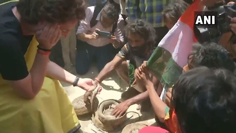 Caught on camera! Priyanka Gandhi Vadra holds snakes in hand during poll campaign in Raebareli