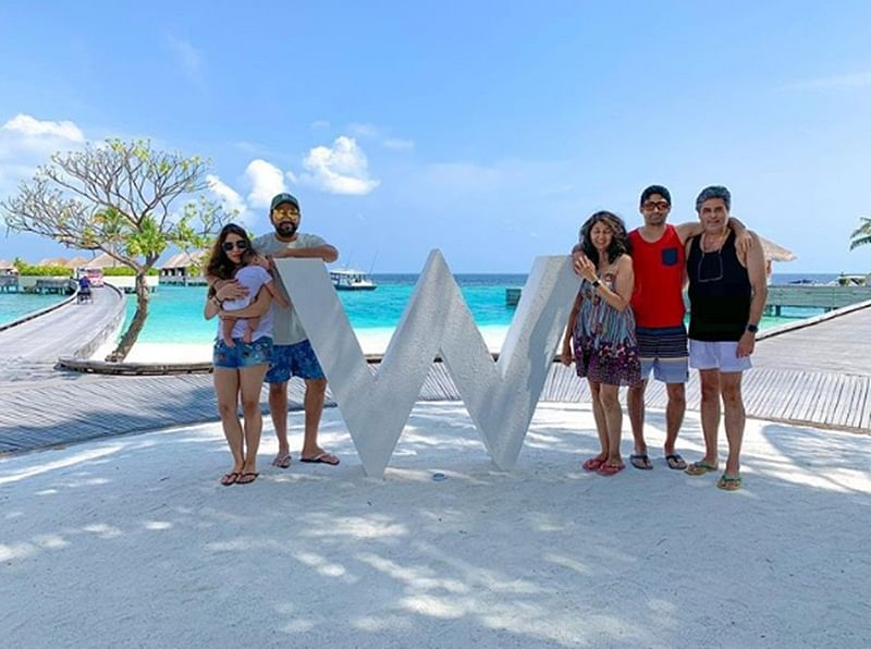 Rohit Sharma spends quality time with family in Maldives before heading to England for World Cup 2019; See pictures