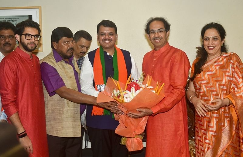 After emerging victorious in Maharashtra, Shiv Sena fears that BJP might ditch ahead of state assembly elections