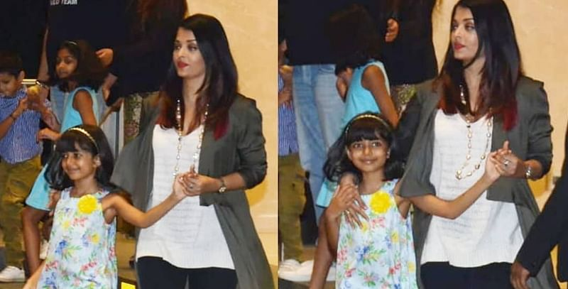 Aishwarya Rai Bachchan trolled for holding daughter Aaradhya's hand