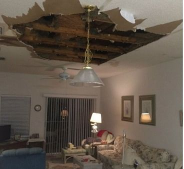 Two injured in ceiling collapse