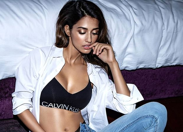 Disha Patani shows off her lingerie in an open white shirt and unzipped denims