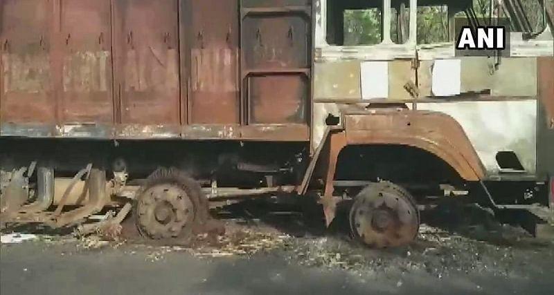 Maharashtra: Naxals call for shutdown in Gadchiroli, torch truck at wood depot