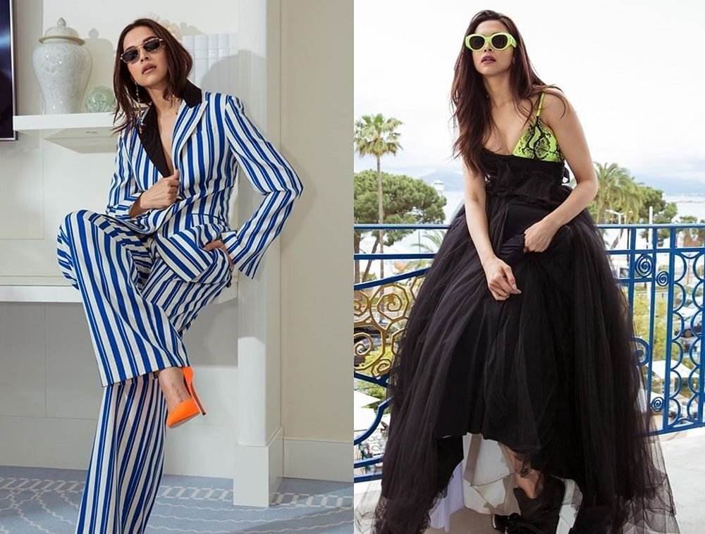 Deepika Padukone goes for a pop of orange and neon on day 2 of Cannes Film Festival 2019