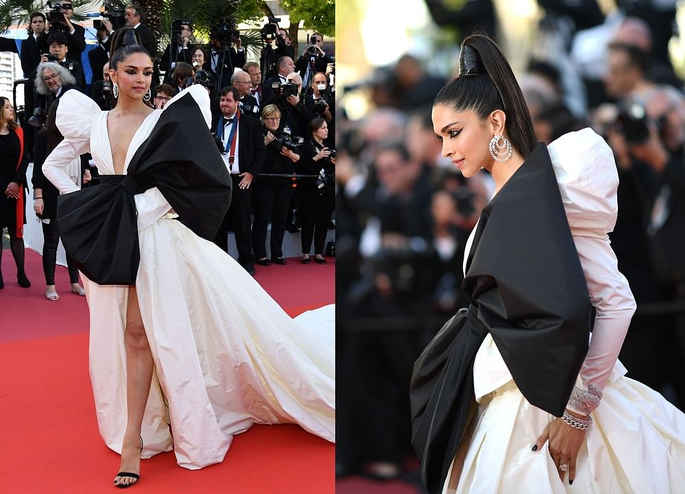 Deepika Padukone walks Cannes 2019 red carpet gift wrapped in an exaggerated bow