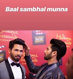 The wait is over! Shahid Kapoor unveils his first wax statue at Madame Tussauds