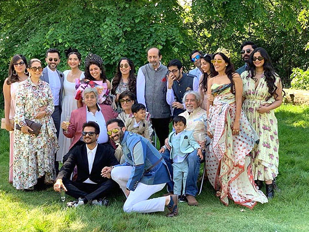Sonam Kapoor shares a 'picture-perfect' family portrait at a dreamy summer wedding in London