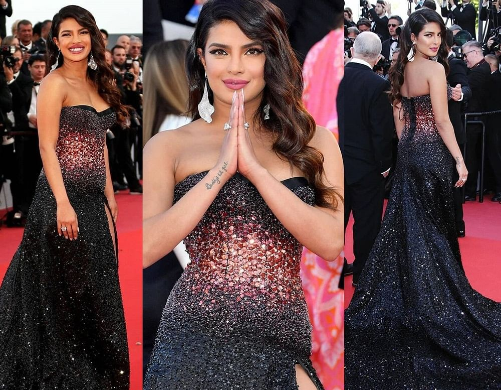 Priyanka Chopra sizzles in a red and black dress at her Cannes Film Festival 2019 debut