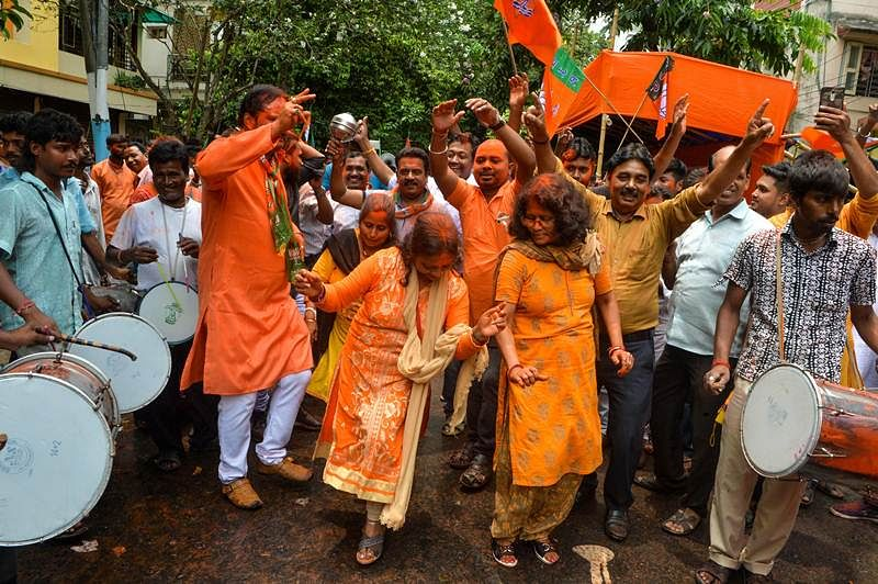 This is how Modi supporters celebrated his landslide victory in India