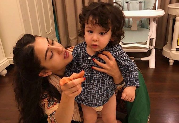 Sara Ali Khan wishes her baby brother Taimur a 'Happy Birthday' with unseen pictures
