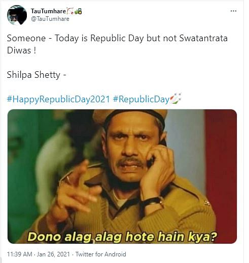 Shilpa Shetty Brutally Trolled For Confusing Republic With Freedom In R Day Post The couple host a party and major bollywood celebs and their tiny kids attend the b'day bash. shilpa shetty brutally trolled for