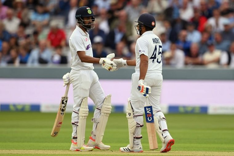 India openers Rohit Sharma and KL Rahul put a fighting opening stand during the 3rd day of the Fourth Test match between England and India at The Oval, in London on Saturday. | ANI