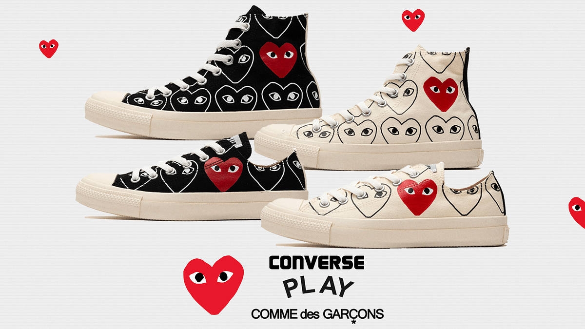 Converse and CDG Play Keep Leveling Up The Classics