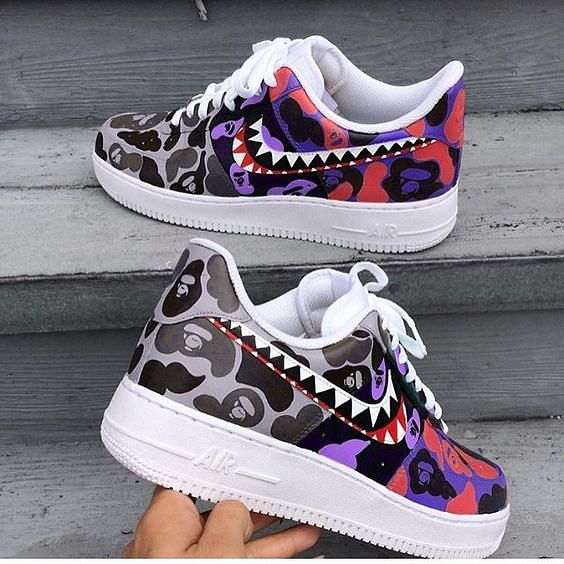 Customised Bape x Nike Air