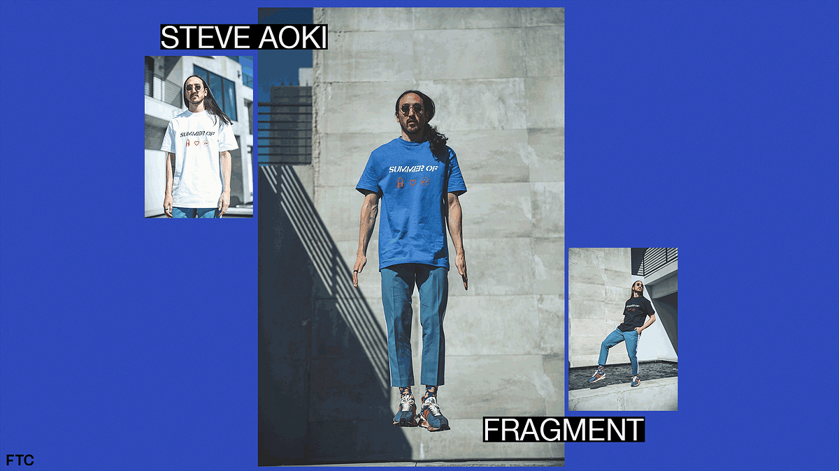 Steve Aoki Plays a Fashionable Tune With A New Fragment Collaboration