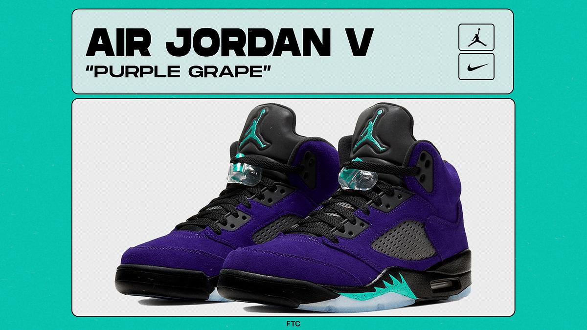 "Air Jordan 5 Celebrates 30th Anniversary with New ""Purple Grape"" Rendition"