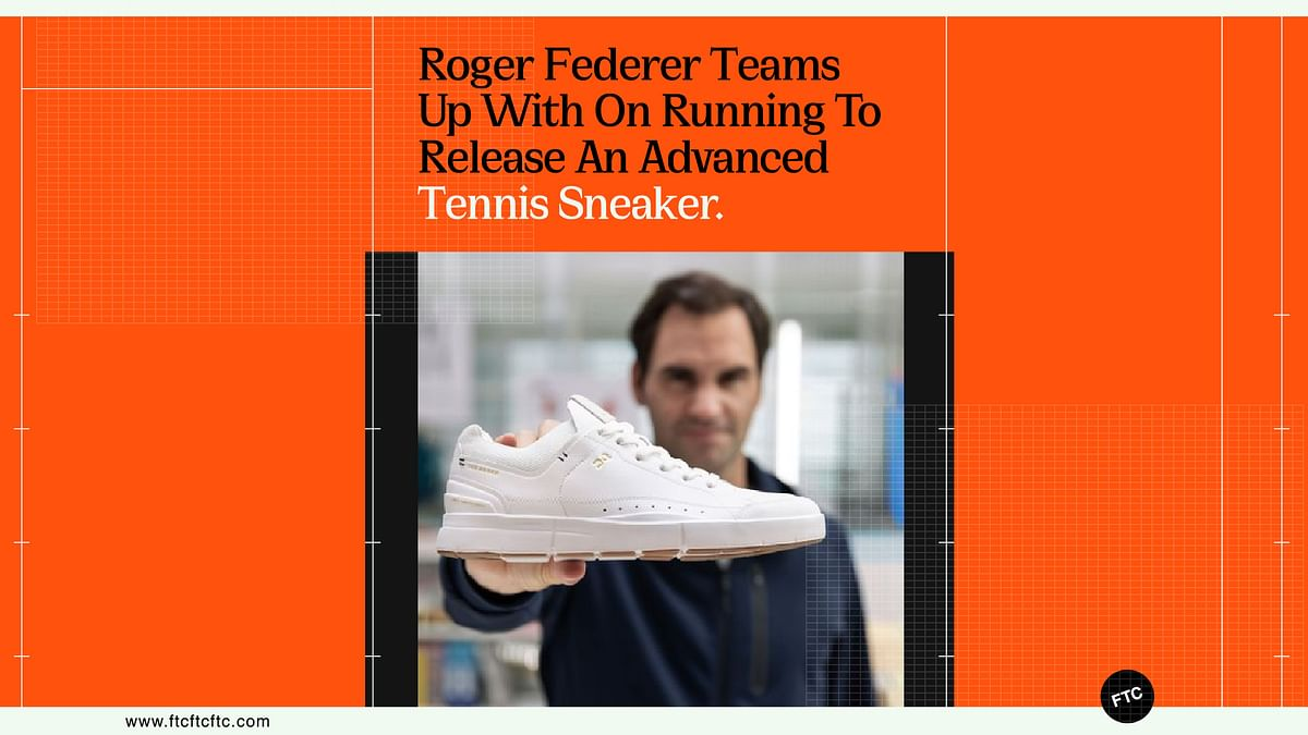 Roger Federer Teams Up With On Running To Release An Advanced Tennis Sneaker