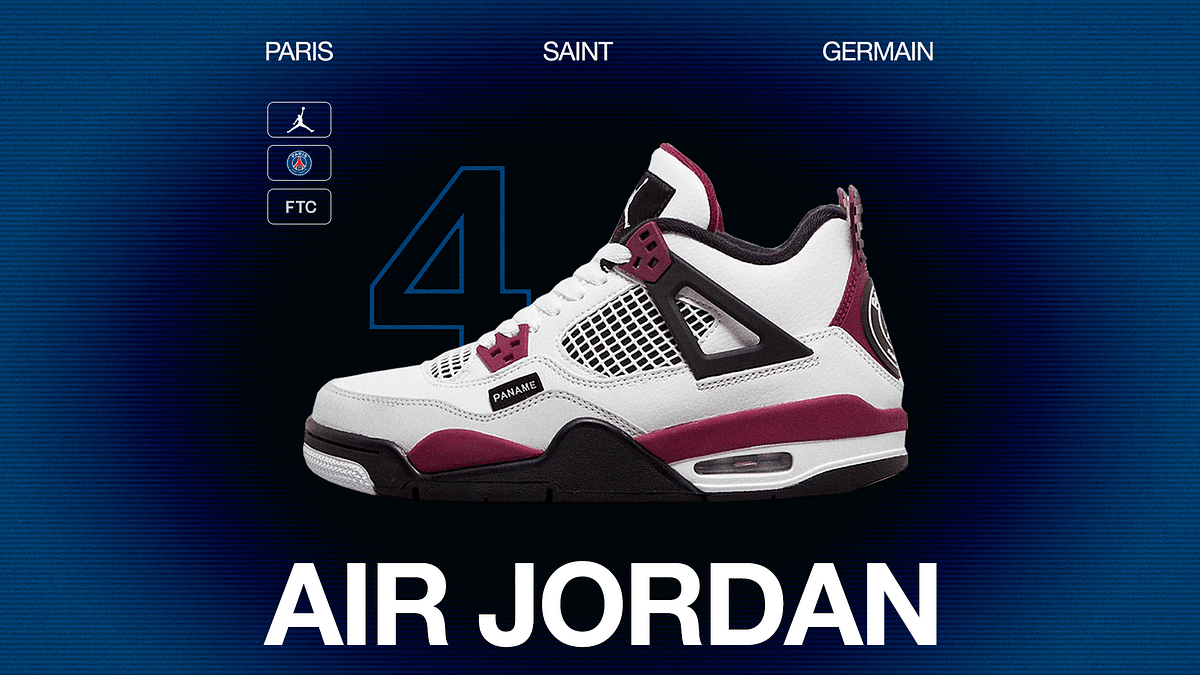 Paris St-Germain Collaborates With Jordan Brand For A New Rendition Of The AJ 4