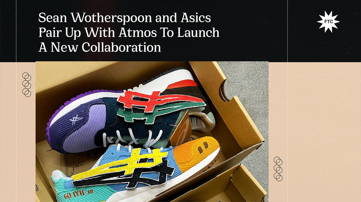 Sean Wotherspoon and Asics Pair Up With Atmos To Launch A New Collaboration