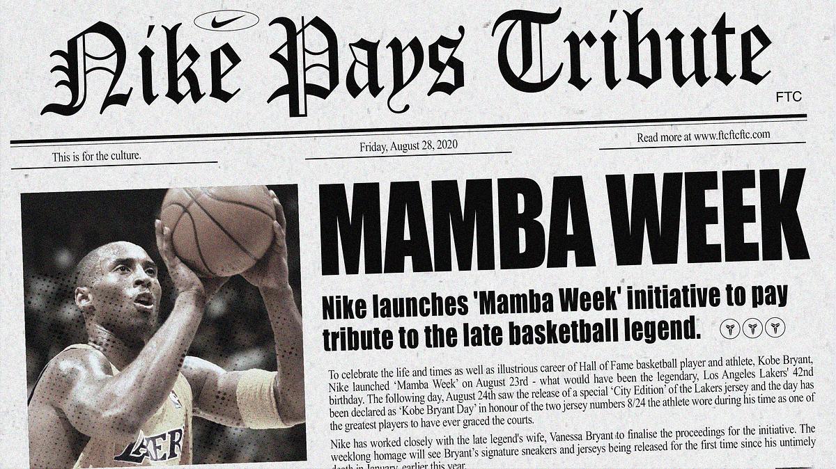 Nike Honours Kobe with 'Mamba Week'