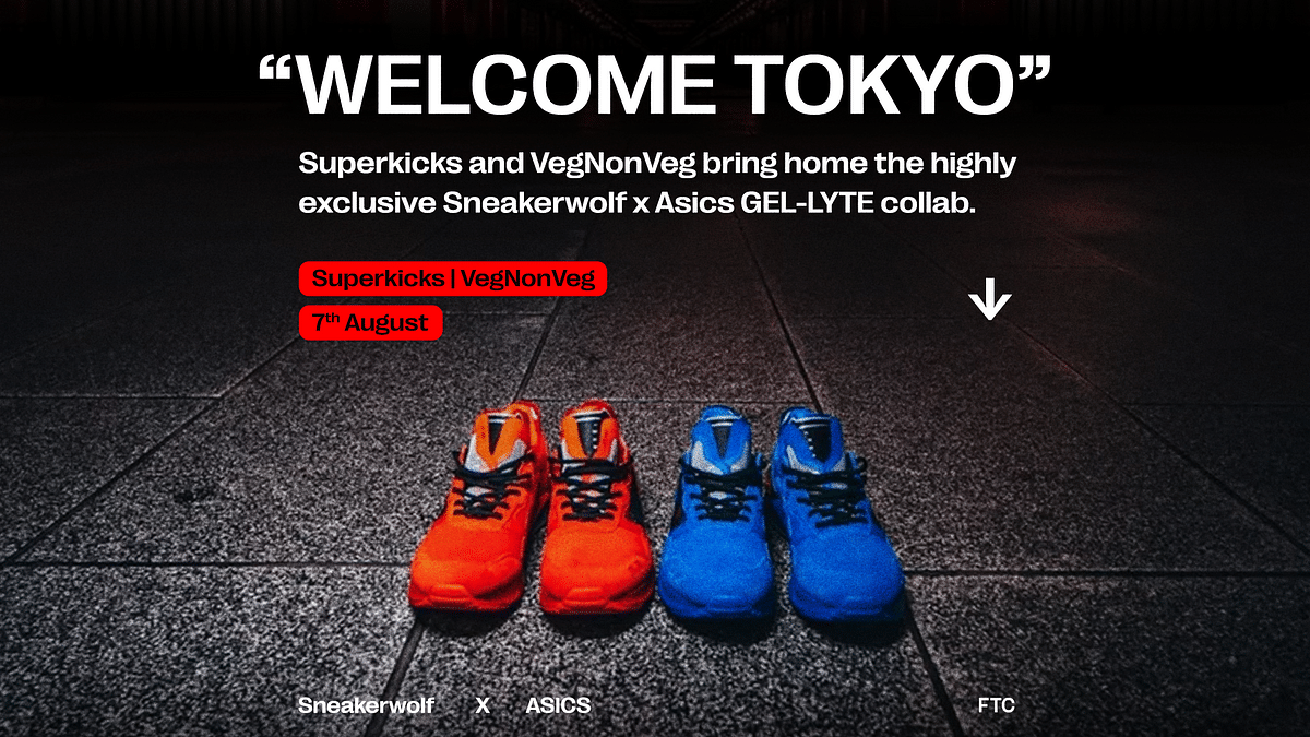 "Superkicks and VegNonVeg Release Sneakerwolf x Asics GEL-LYTE ""Welcome Tokyo"""